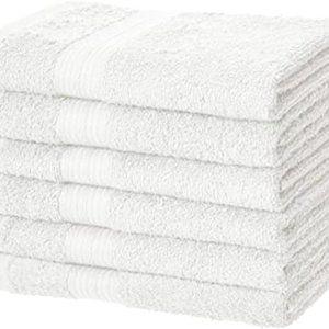 AmazonBasics Fade-Resistant Cotton Hand Towel - Pa